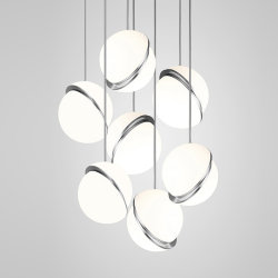 Crescent Chandelier 7 by Lee Broоm Chrome