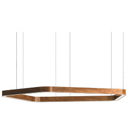 Henge Light Ring Horizontal Polygonal D100 Copper