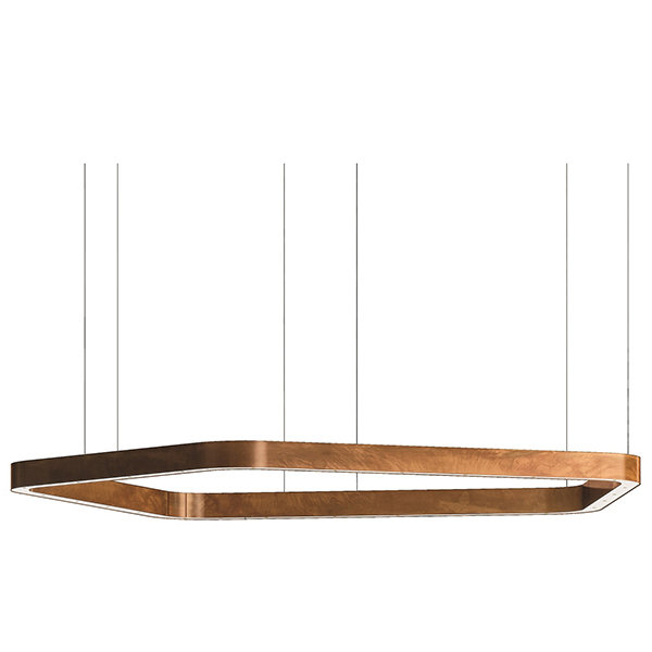 Light Ring Horizontal Polygonal D100 Copper